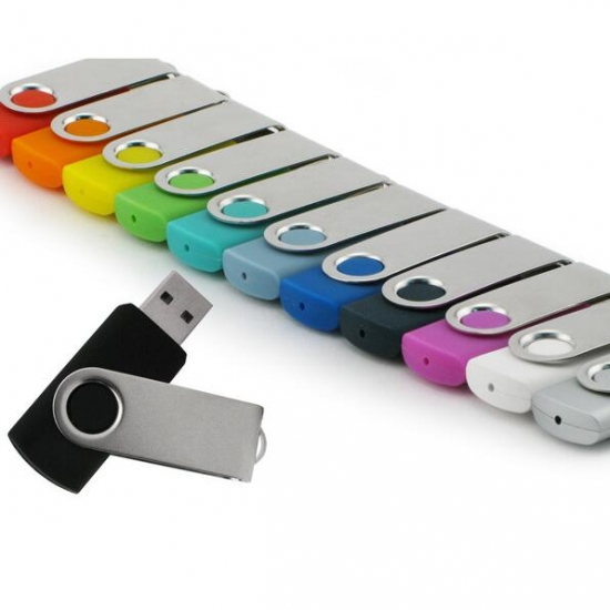 Vrtljivi USB ključki različnih barv