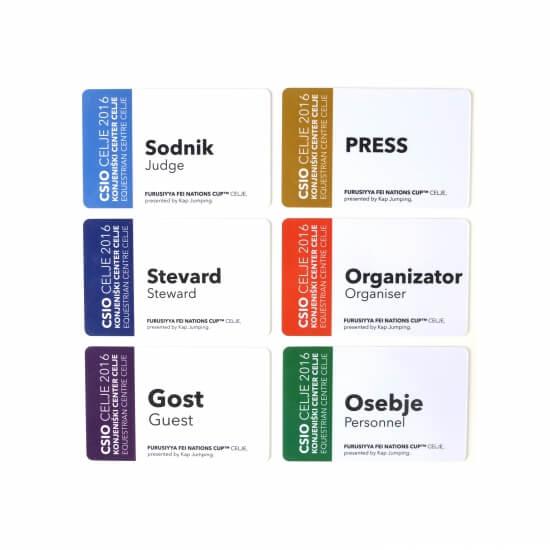 Primer akreditacijskih kartic - CSIO 2016