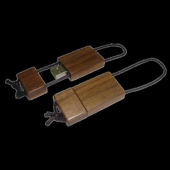Leseni USB ključek z vrvico